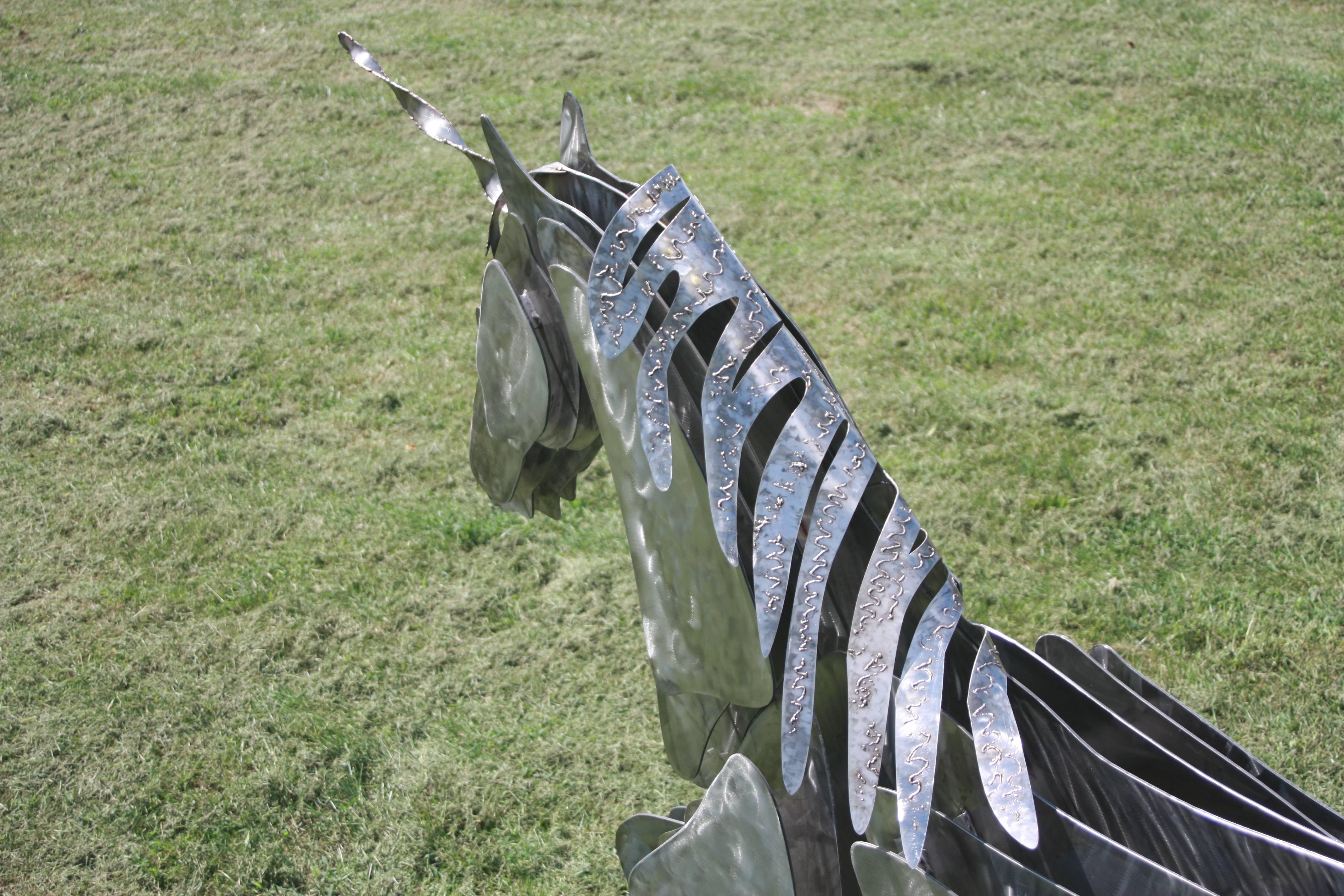 Stainless steel unicorn