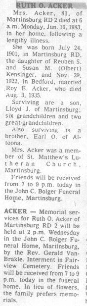 Acker, Ruth Kensinger 1983