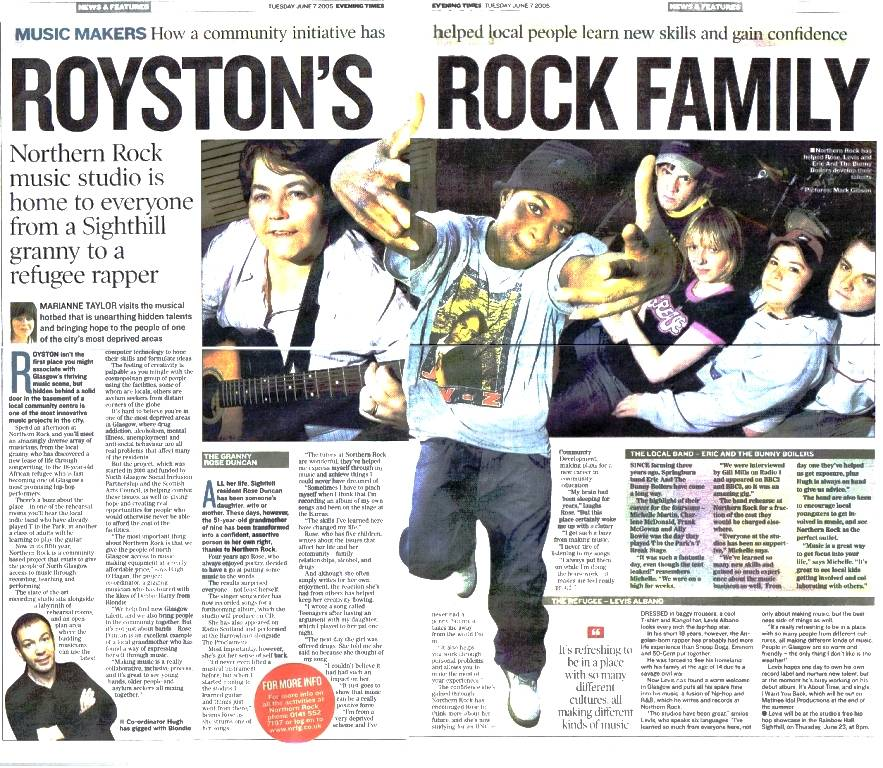 ROYSTON'S ROCK FAMILY: