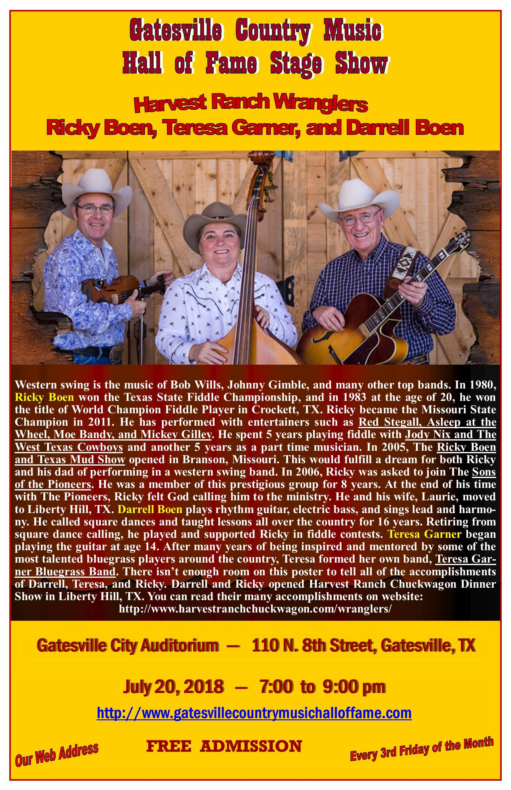 Harvest Ranch Wranglers, July 20, 2018