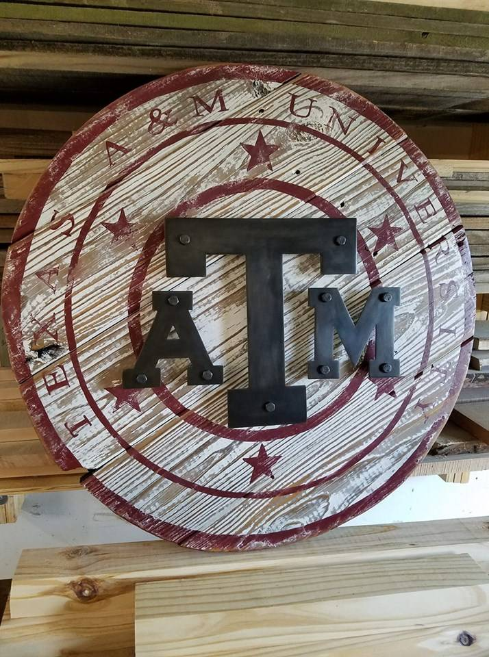 Texas A&M wall art