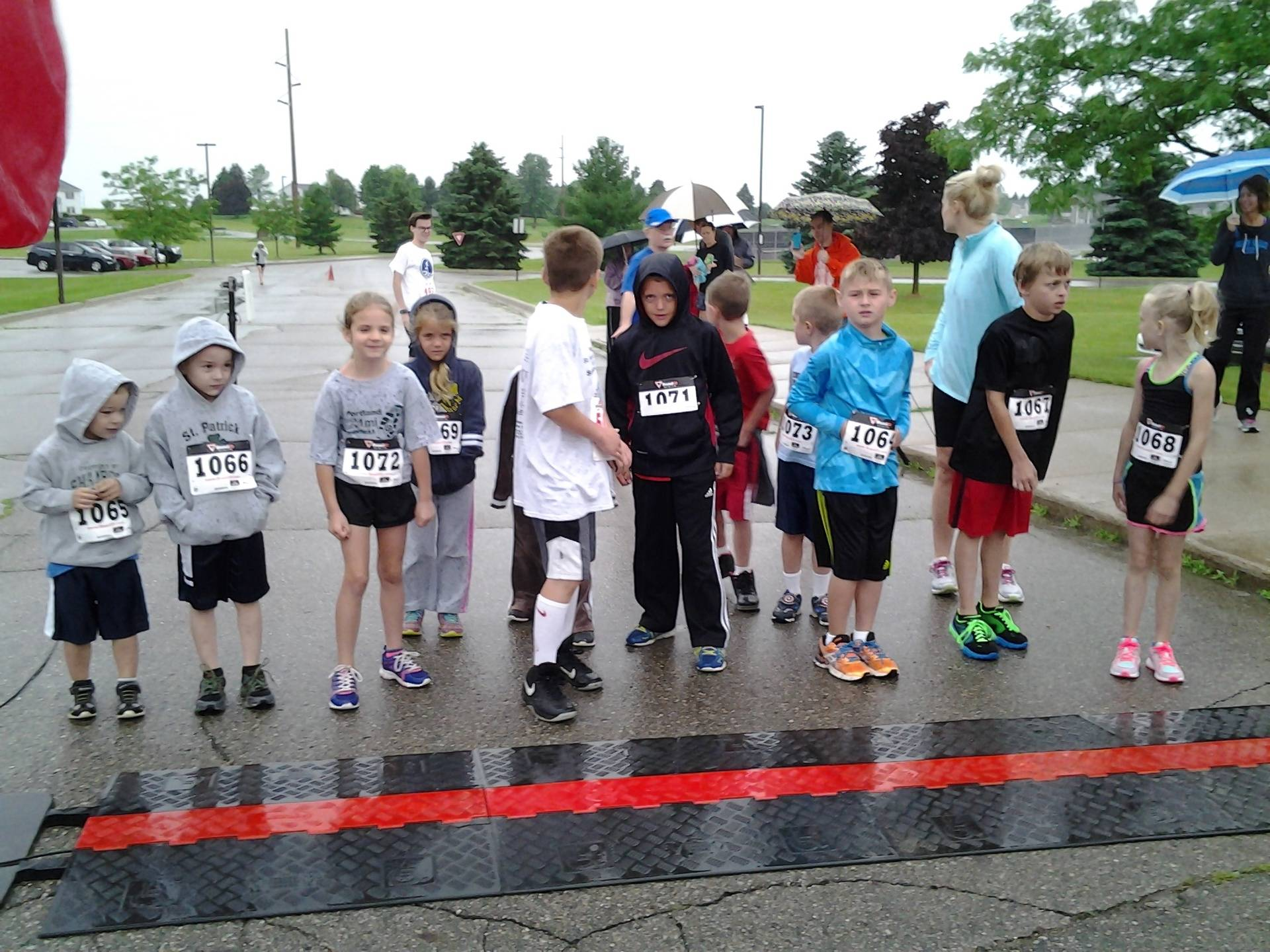 Kids lined up and ready for the Fun Run