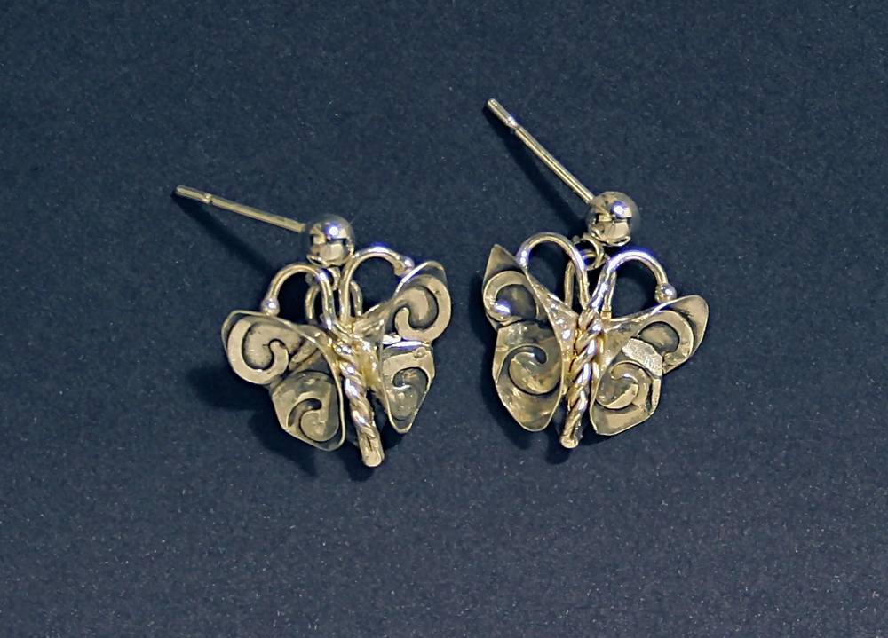 Butterfly with Swirls Earrings
