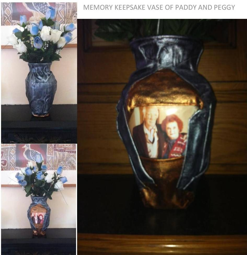 Antique Silver & Bronze Memory Vase