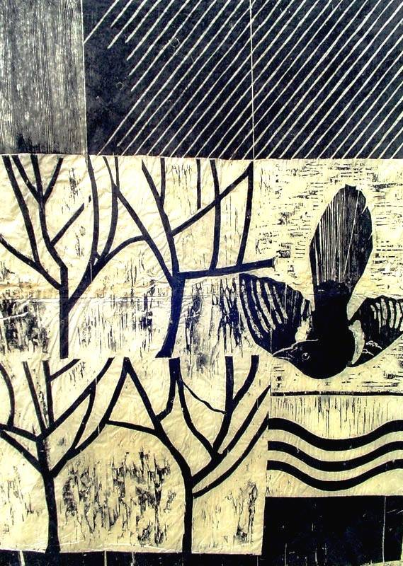 Magpie in the Orchard (One for Sorrow)