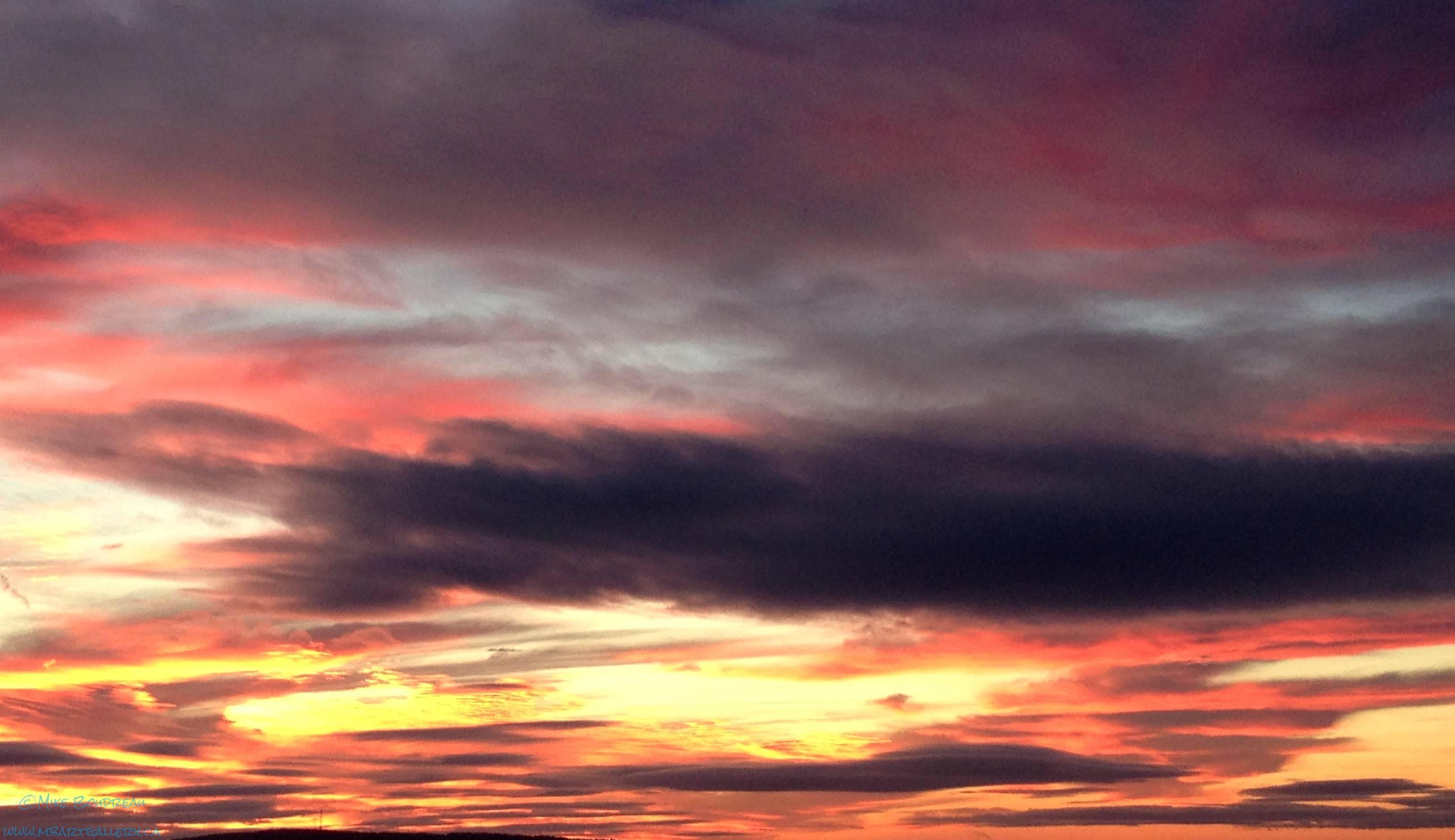Morning Sky over Bay of Fundy, Saint John NB