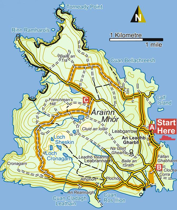 Map Of Aranmore Island