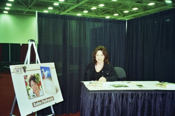 Kathie FitzPatrick right before the booksigning