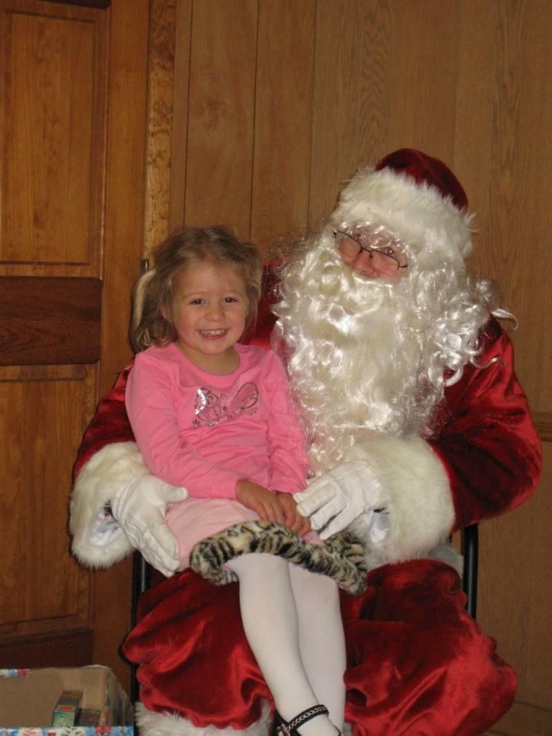 Miss Emma with Santa