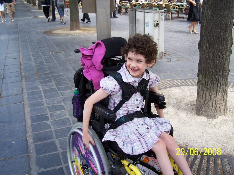 Nikita, in her wheelchair