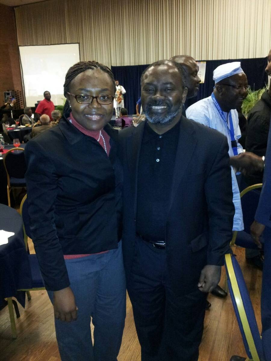 Dr. Gnaka and Stephanie Mbella a Ph.D student