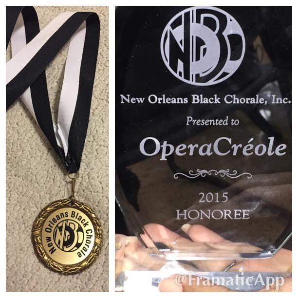 OperaCréole honored
