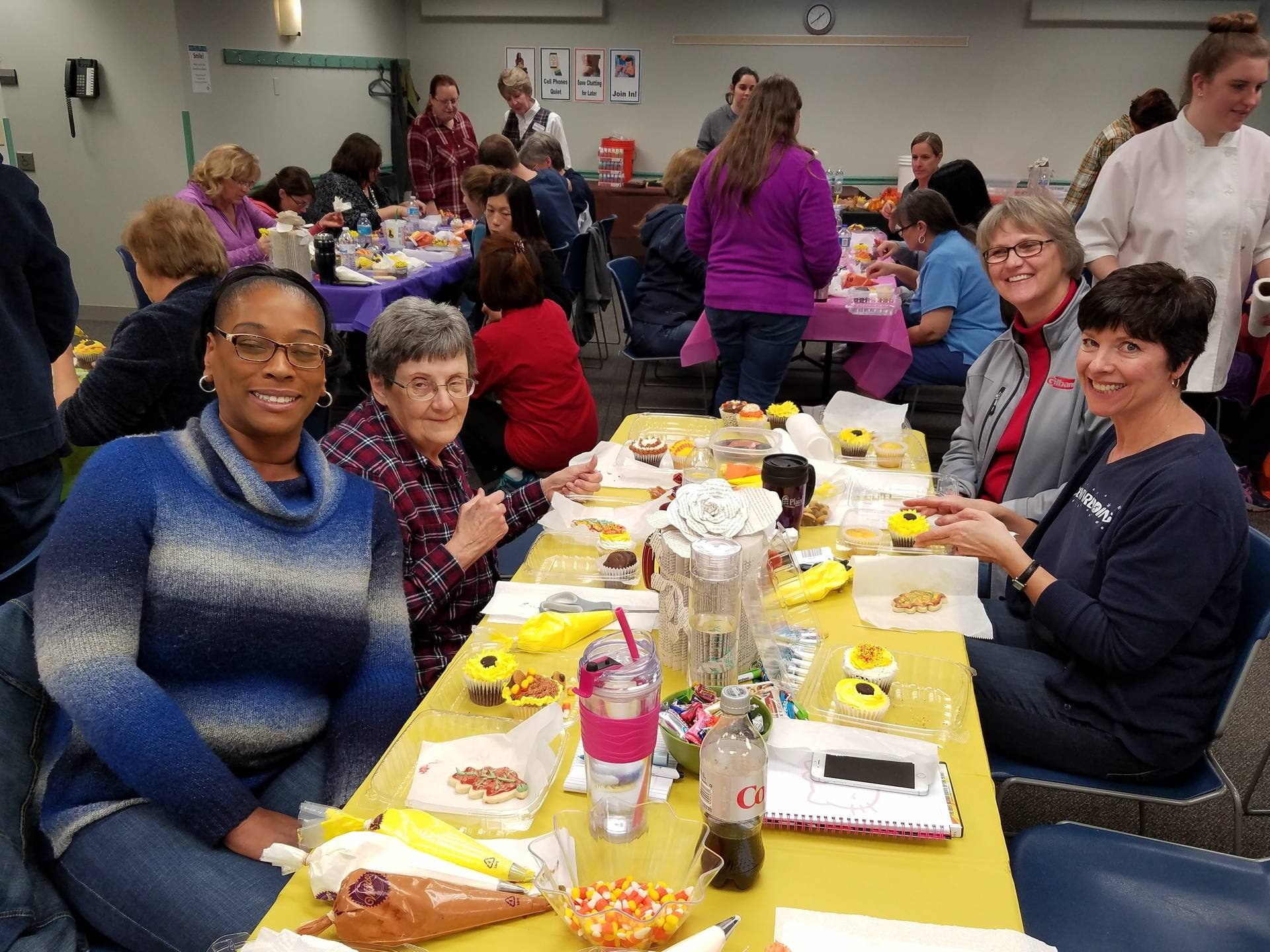 Plainfield Library Staff Cupcake/Cookie Decorating