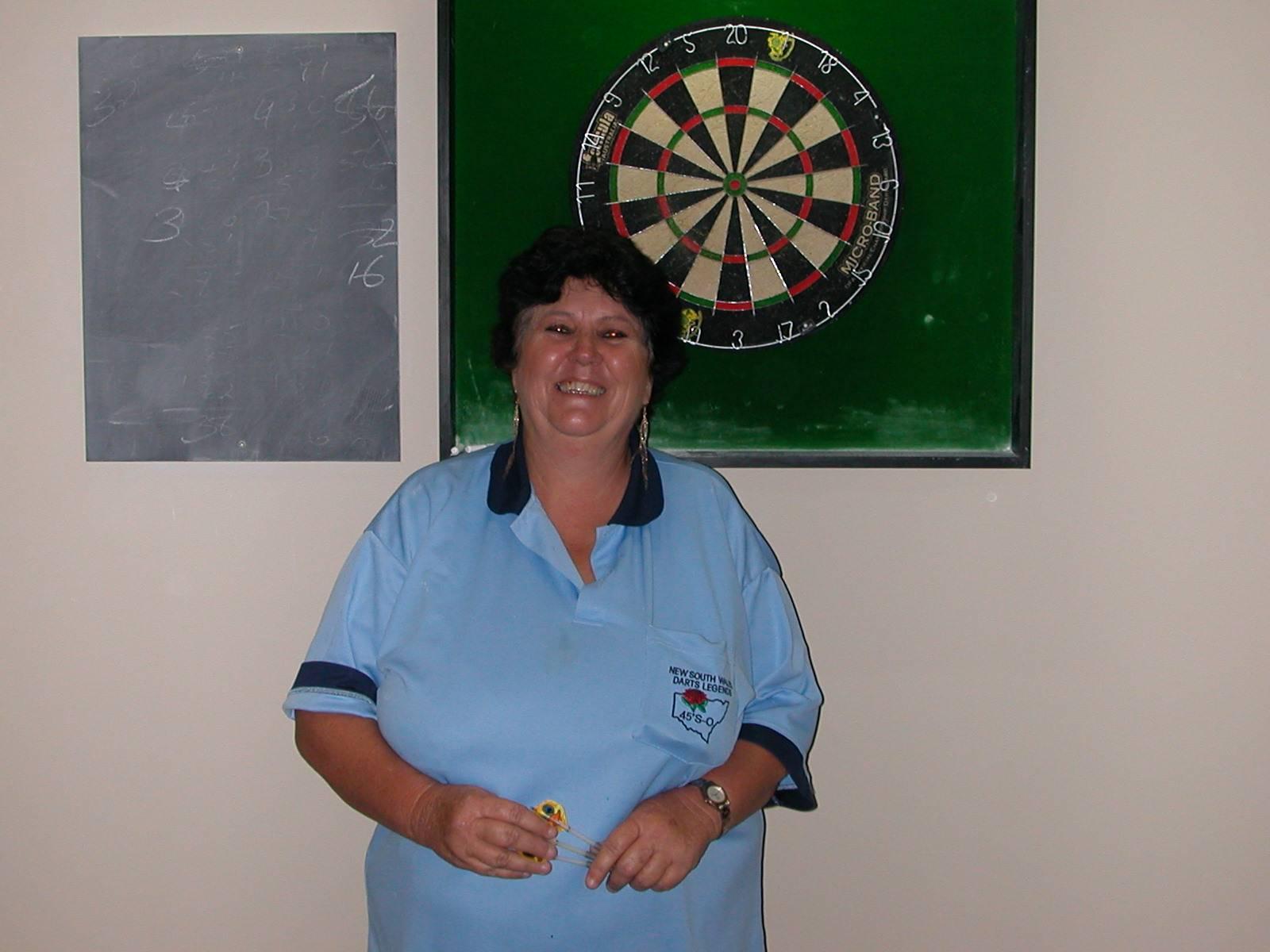 Ladies Singles Winner Marion Reed