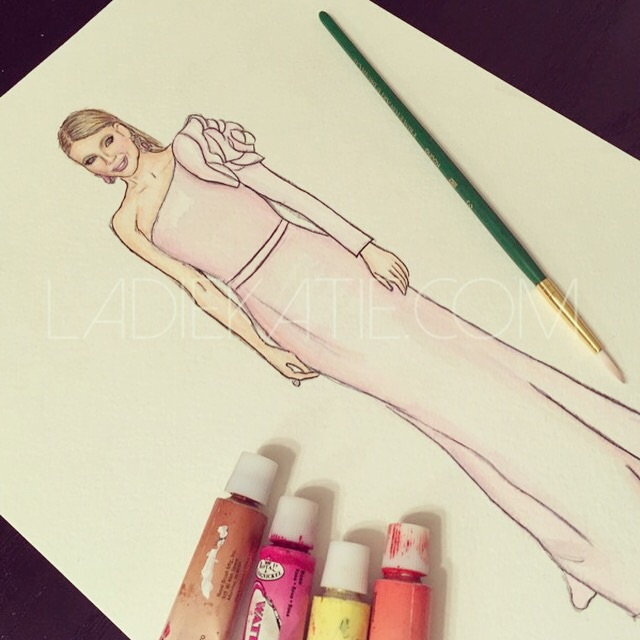 Gweneth Paltrow Watercolor
