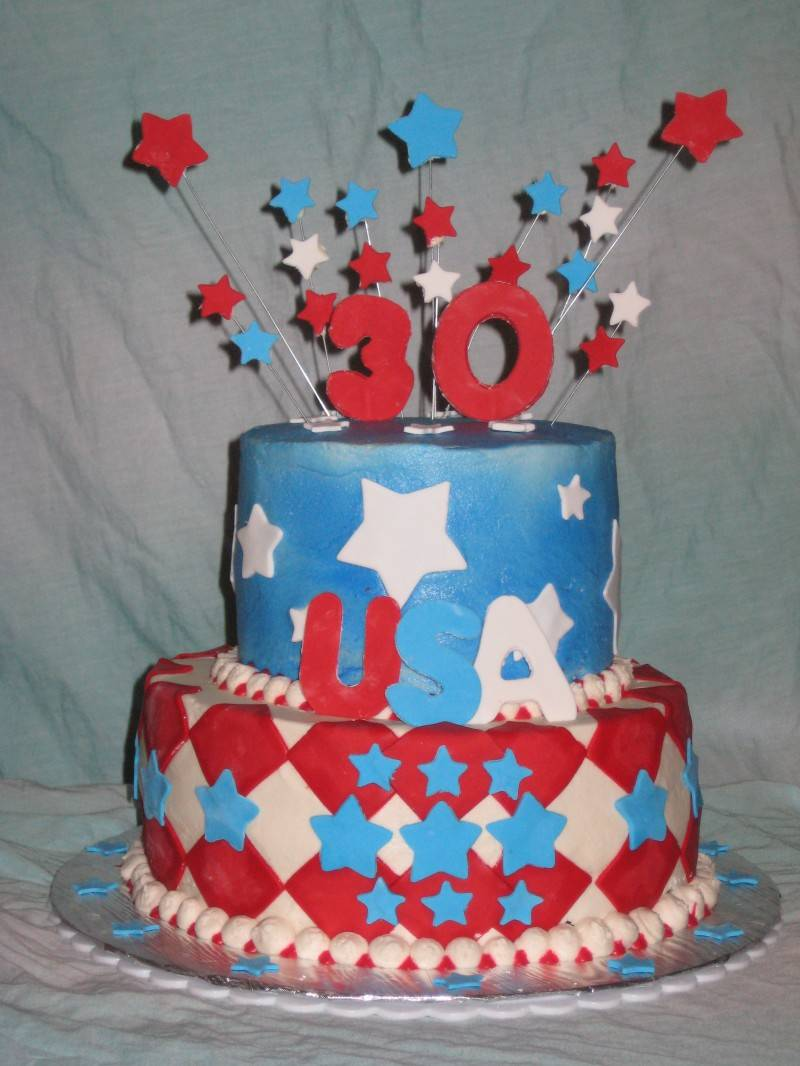 Patriotic Birthday Cake