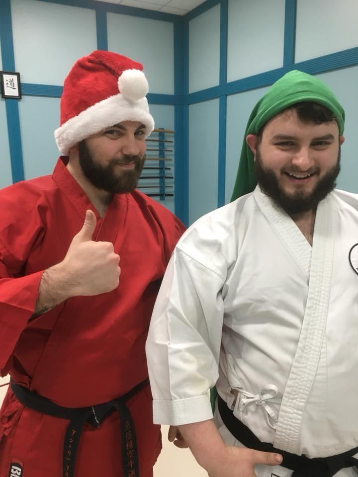 Sensei santa and his elf