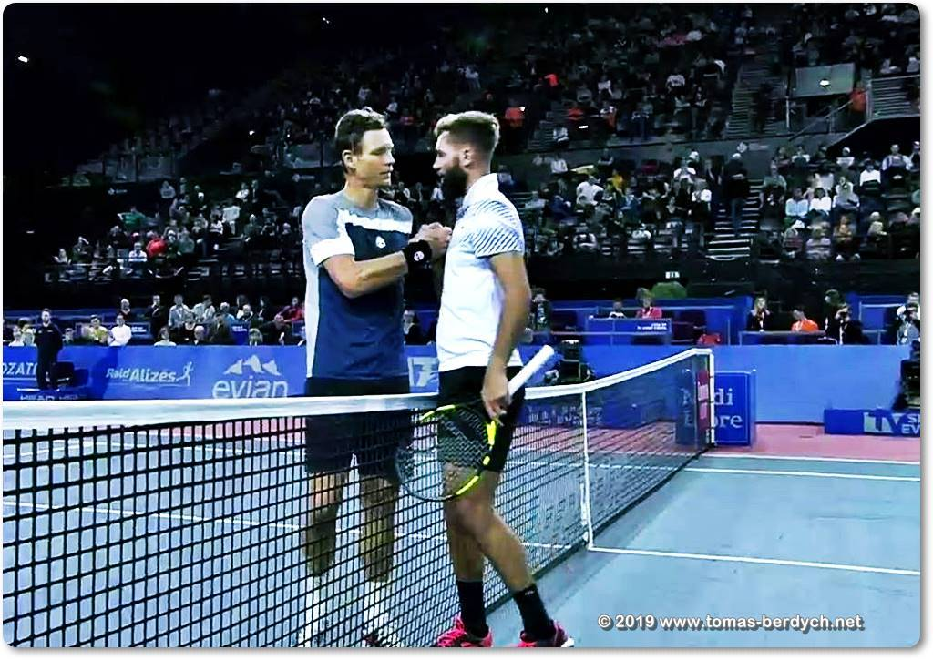 Tomas Berdych and Benoit Paire