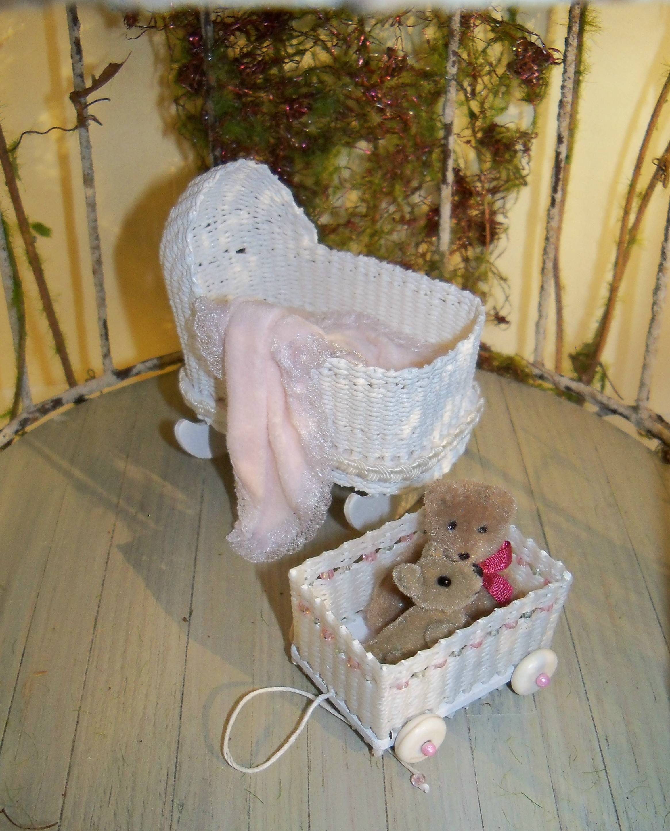 Cradle and toy cart