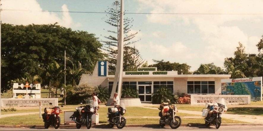 Our Bike at The Tropic of Capricorn Monument at Rockhampton