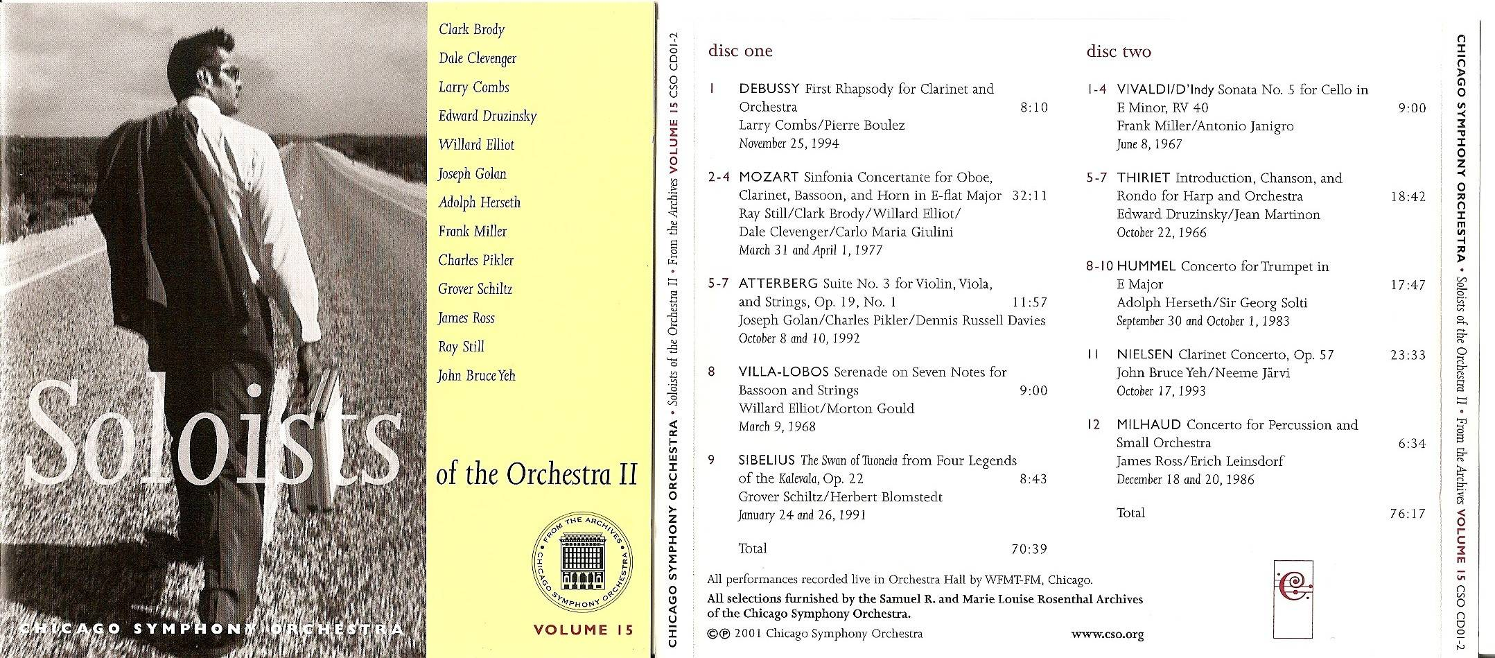 Chicago Symphony Orchestra - From The Archives, Vol.15: Soloists of the Orchestra II, 2-CD set (2001)