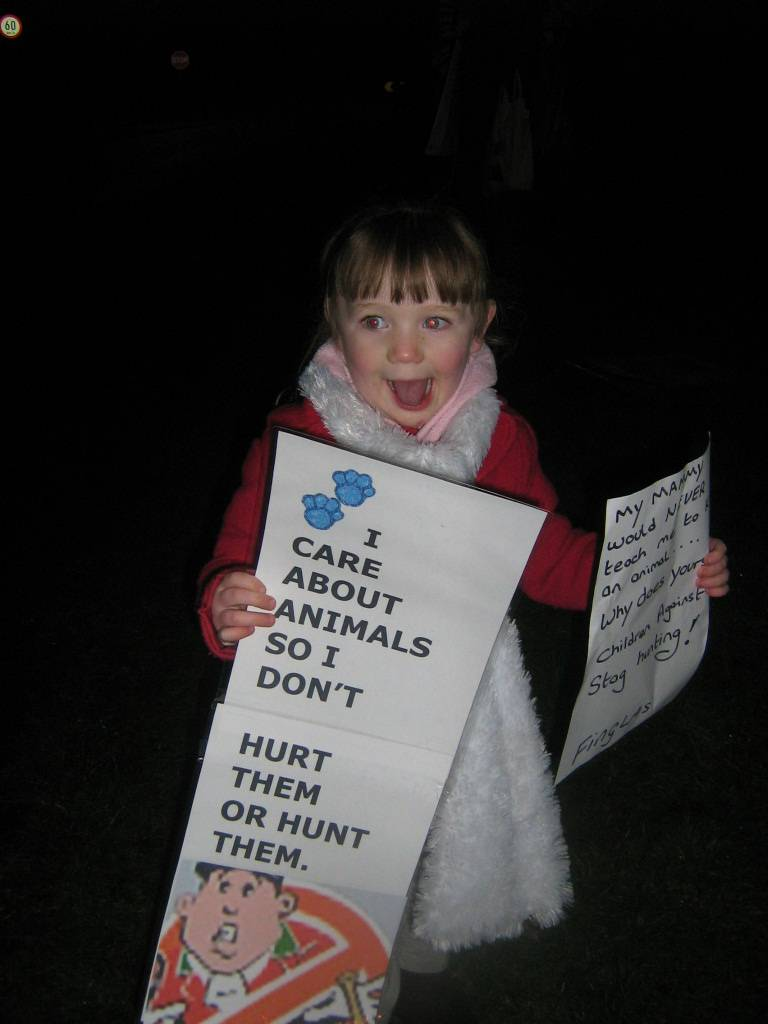 Little protester