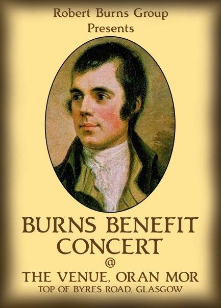 Burns Poster Advertising Concert On Elecronic Billboard - Glasgow