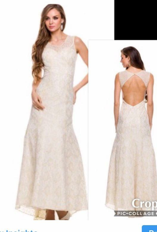 NEW WITH TAGS SIZE LARGE BRIDAL GOWN $175.00