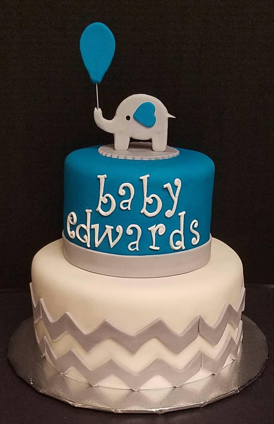 Baby Elephant Boy Chevron Design