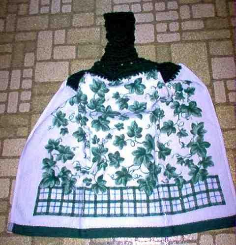 Small Ivy Print Kitchen Towel