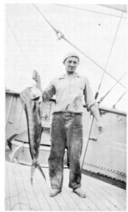 Sven Olsen with fish caught off Fenwick