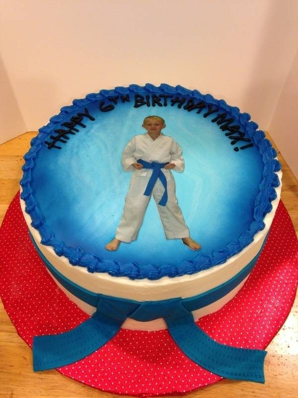 Karate Birthday Cake