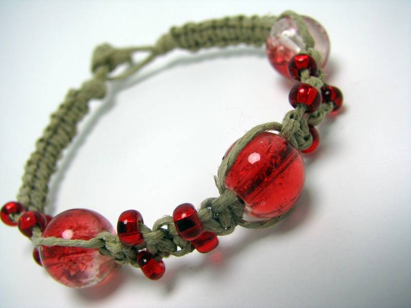 Crackle Glass Focal Beads