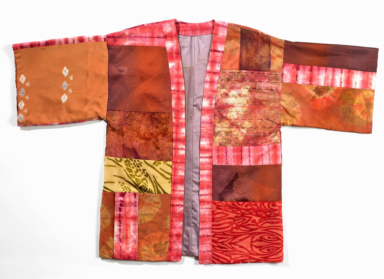 Warm-Toned Kimono Jacket