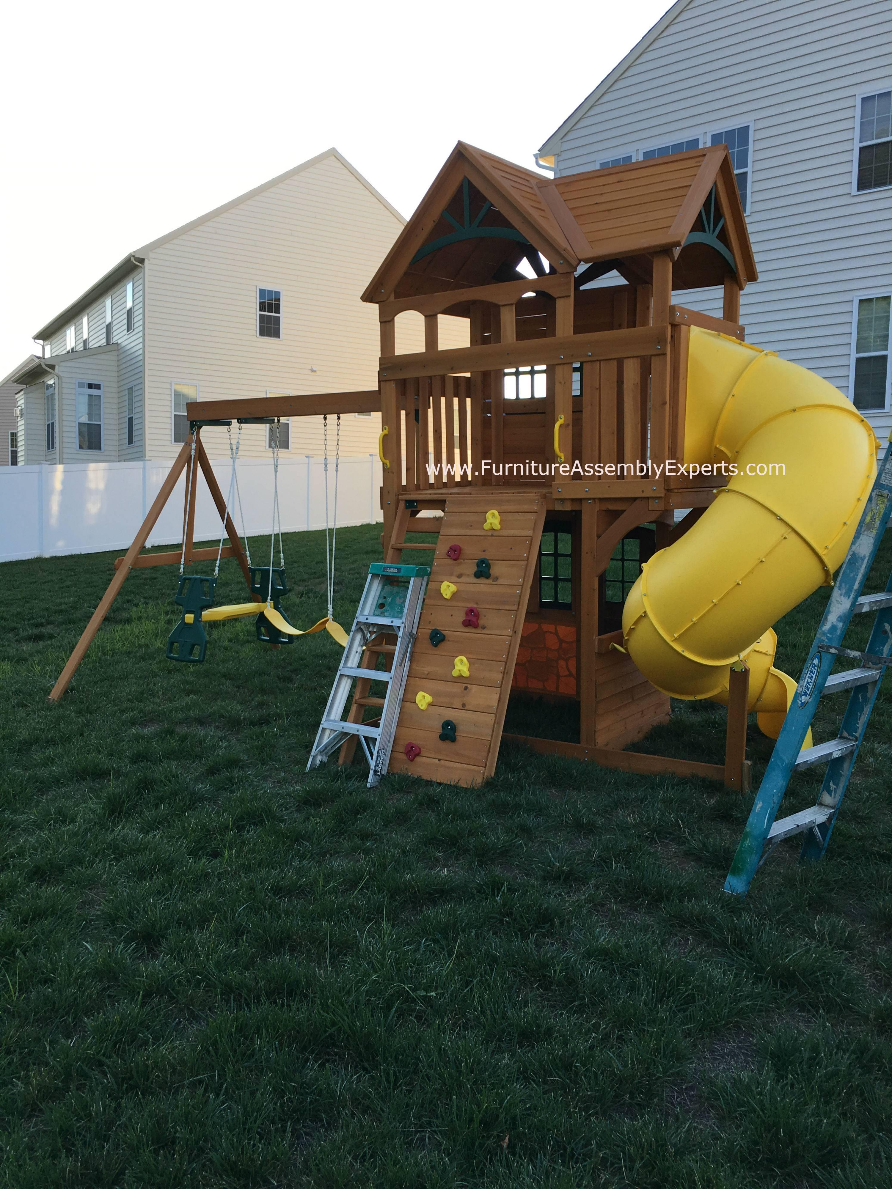 backyard discovery swing set assembly service in ashburn VA