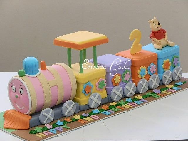 Winnie the Pooh Train Cake