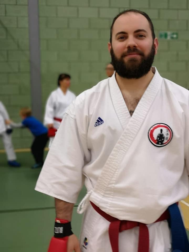 Sensei Ash ready for kumite