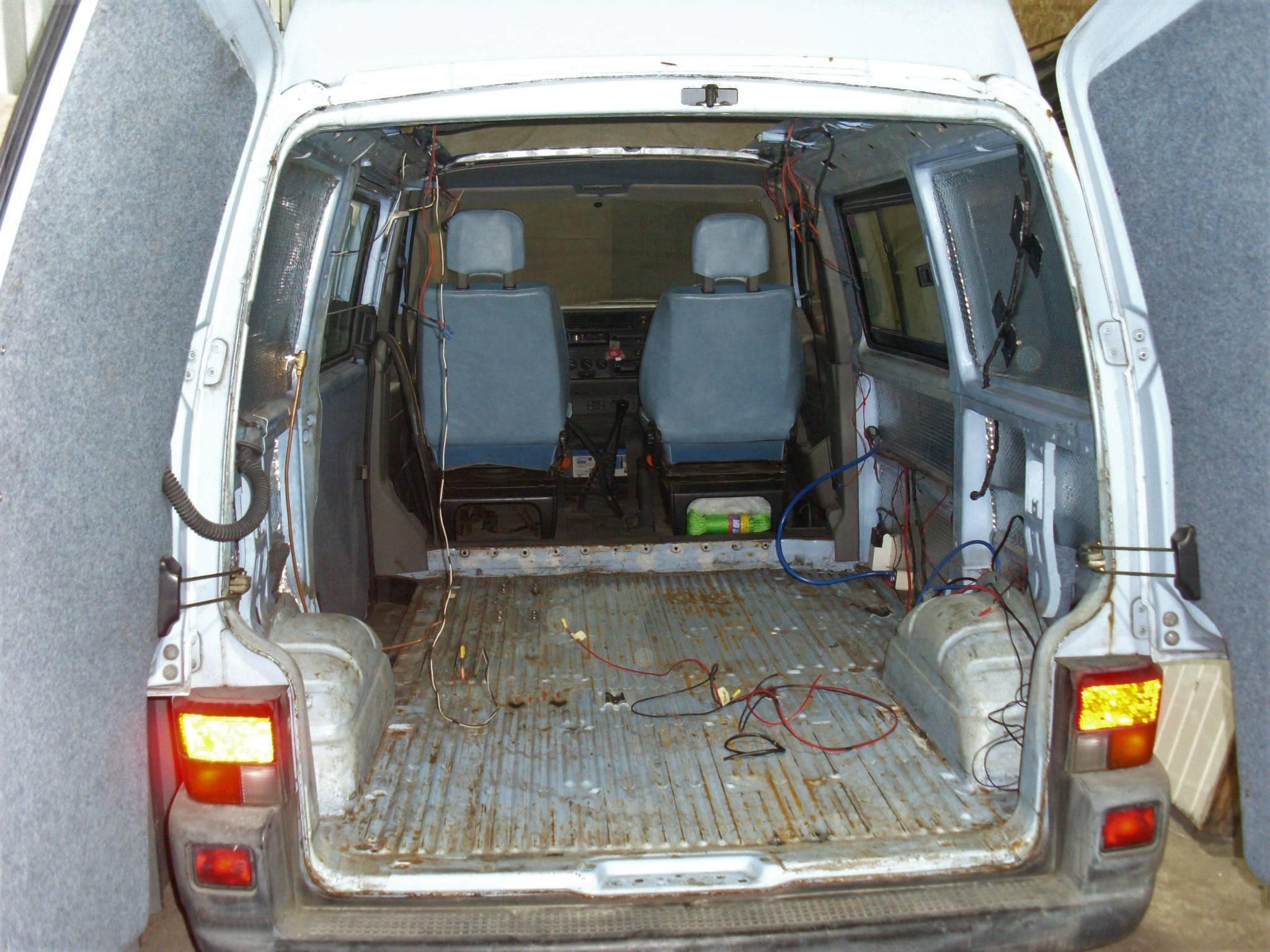 VW T4 refurb, strip out inside.