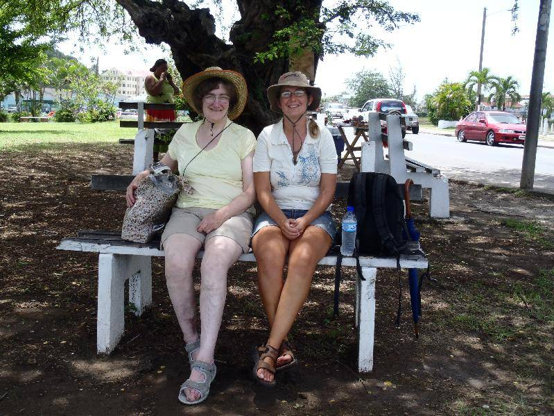 Waiting for our chauffeur in Castries