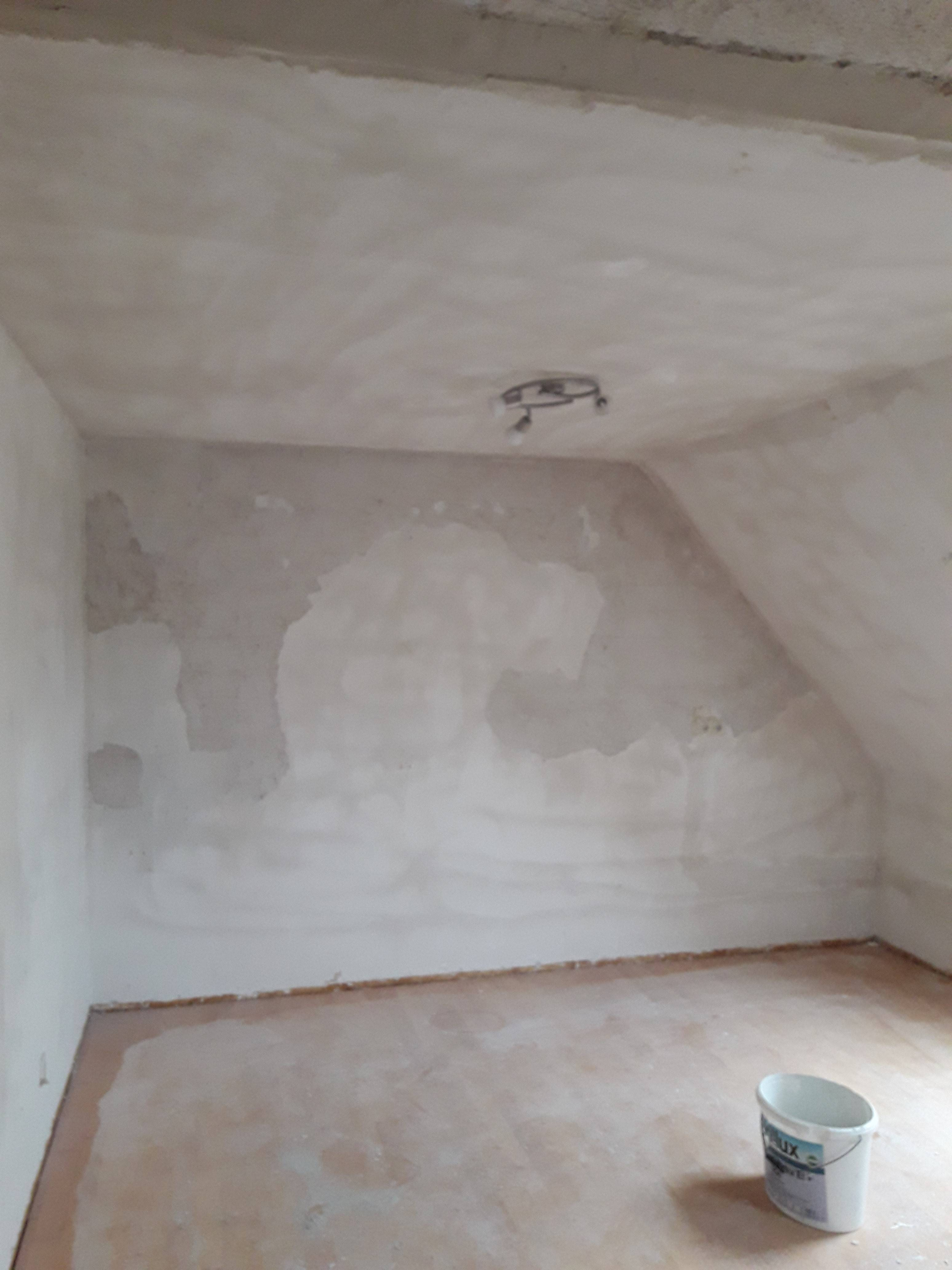 Vorbereitung Wand und Deckenfläche