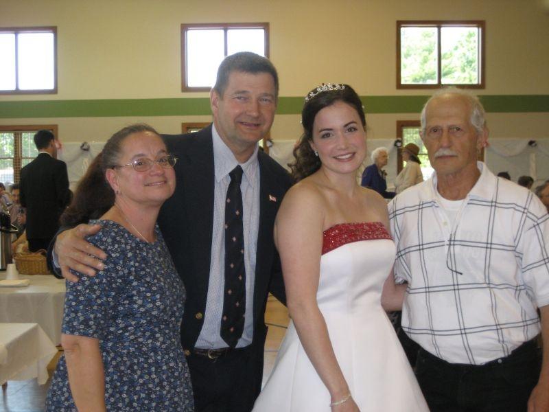 Past gymnast wedding reception.