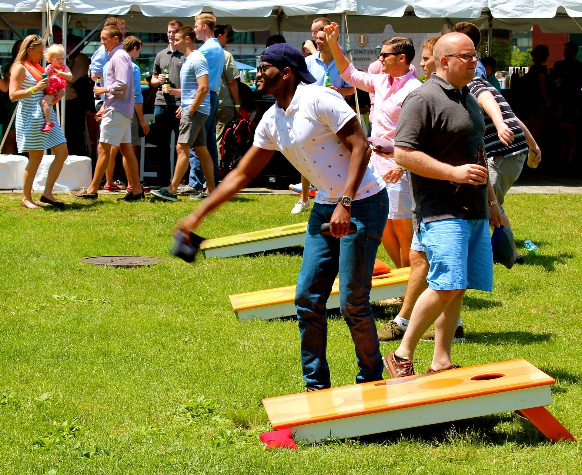 Corporate Cornhole Summer Outing