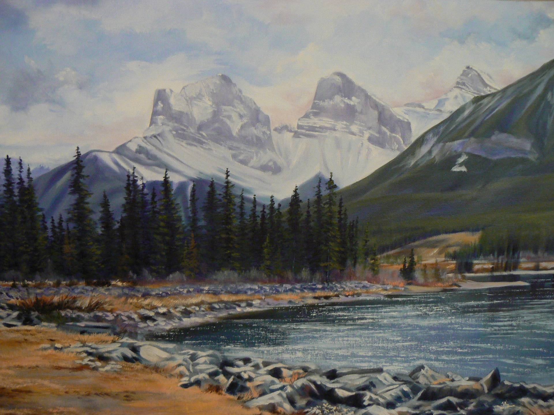 Three Sisters At Bow River