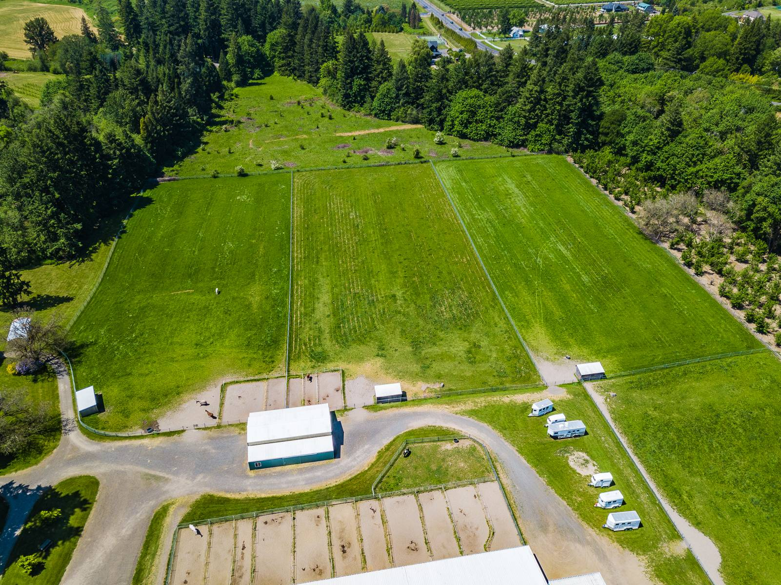 Little barn & pastures