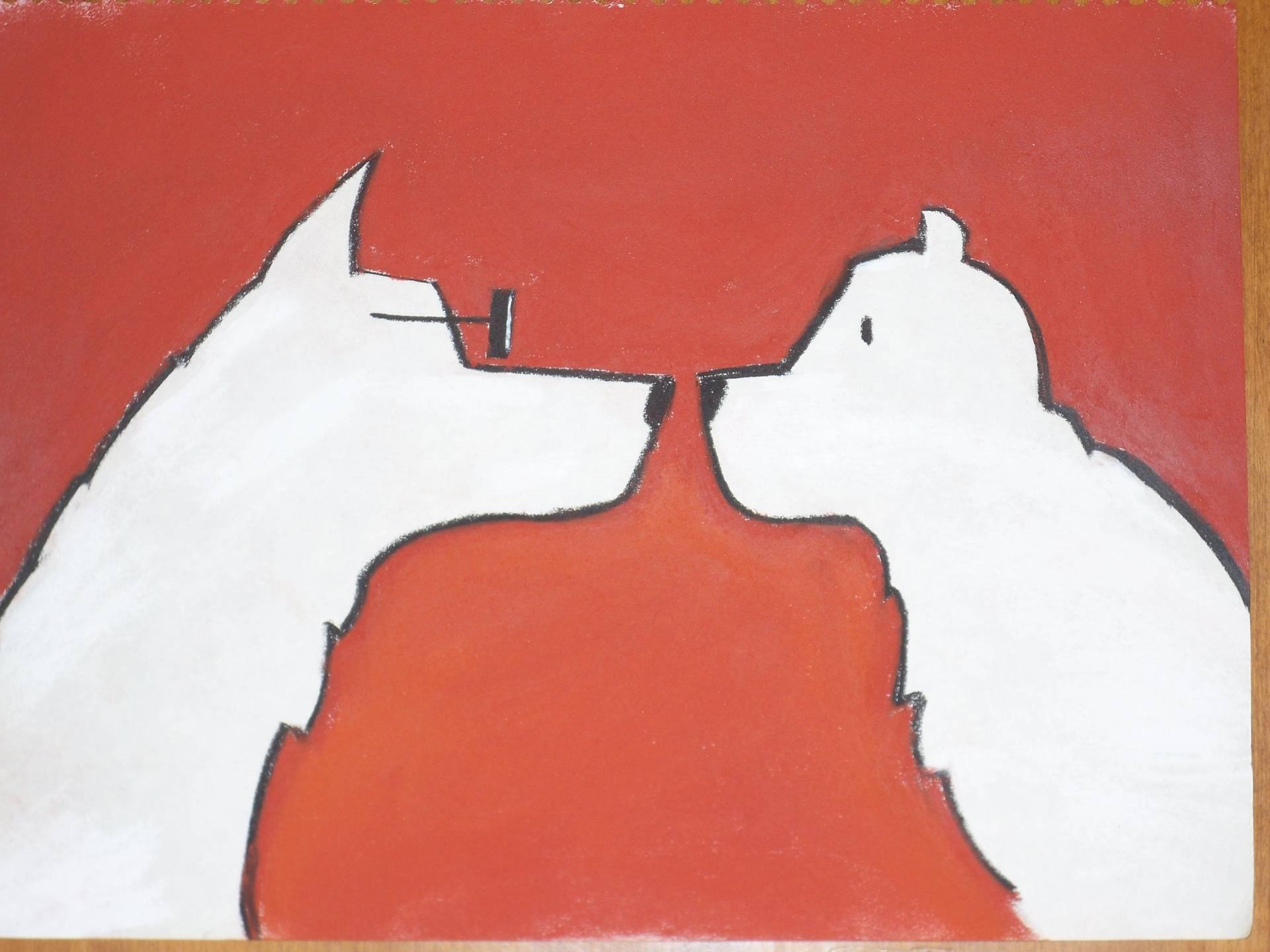 Wolf and Bear Red