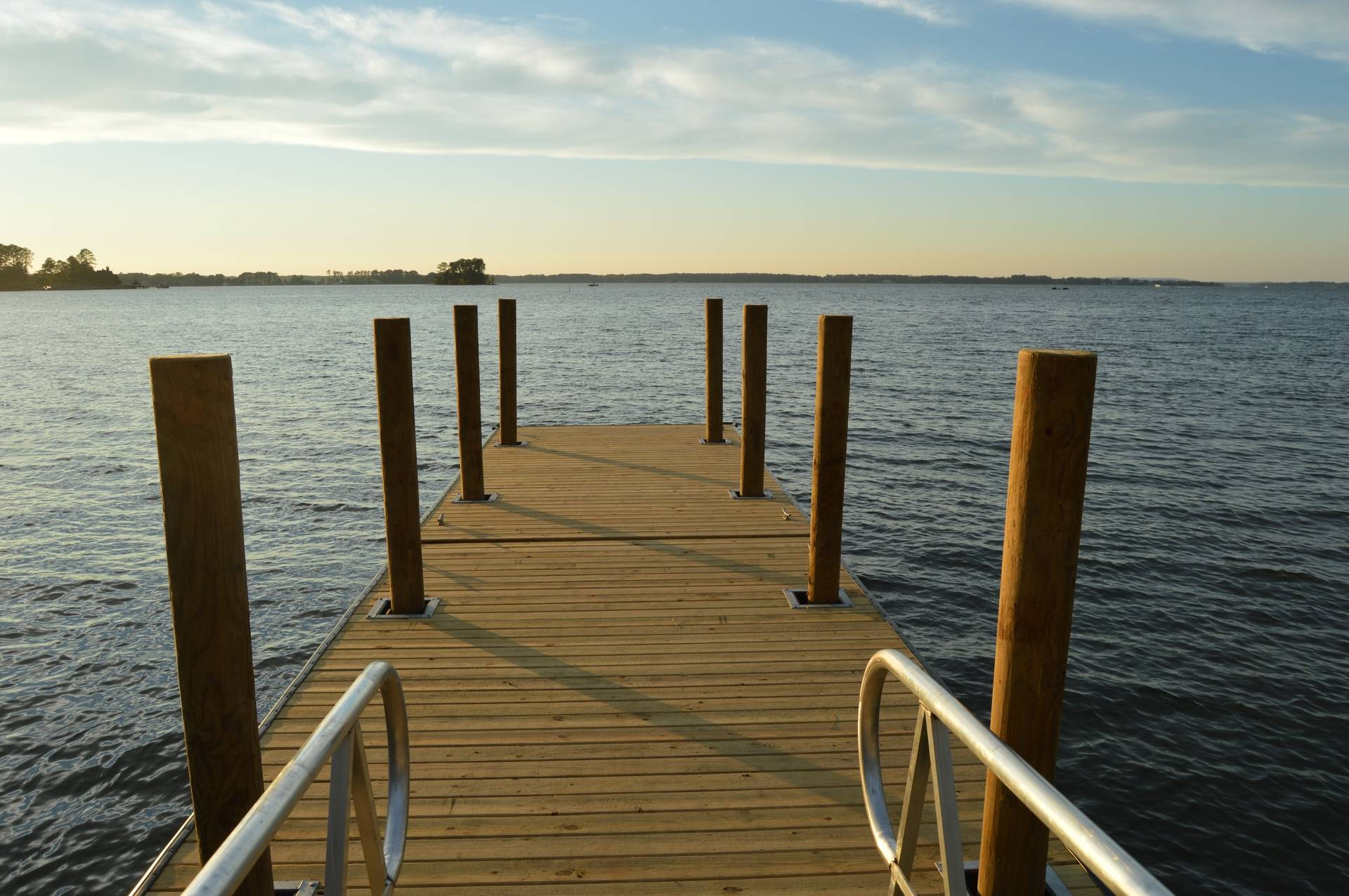 A Shared Floating Dock with 8 Pilings