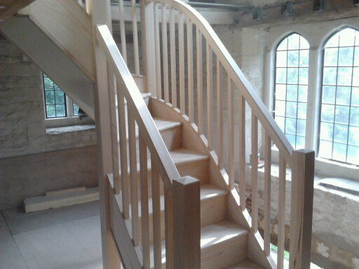 Solid ash staircase