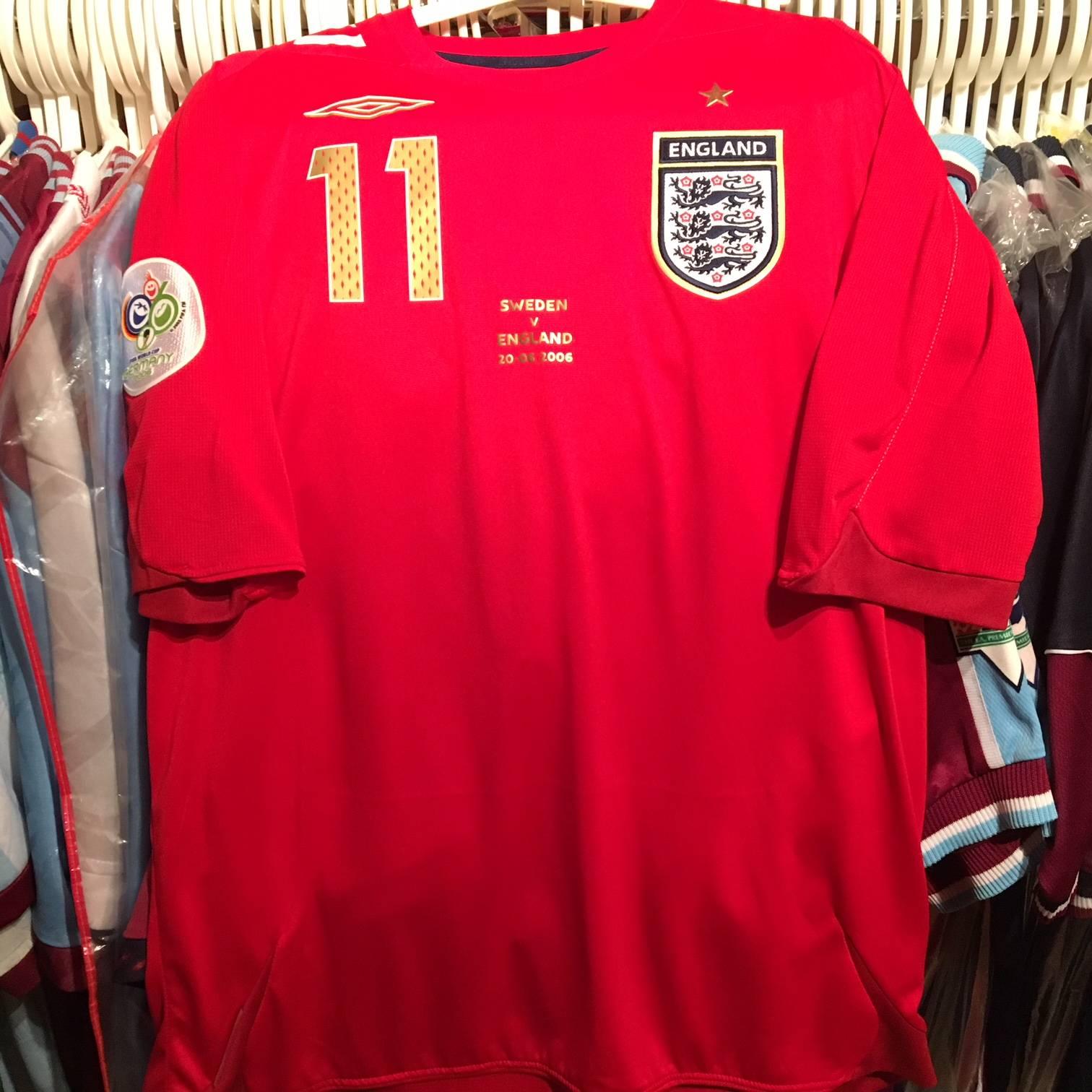 Worn Joe Cole 2006 World Cup England shirt.