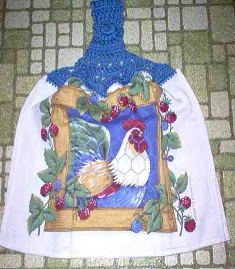 Rooster & Berries Full Kitchen Grill Towel