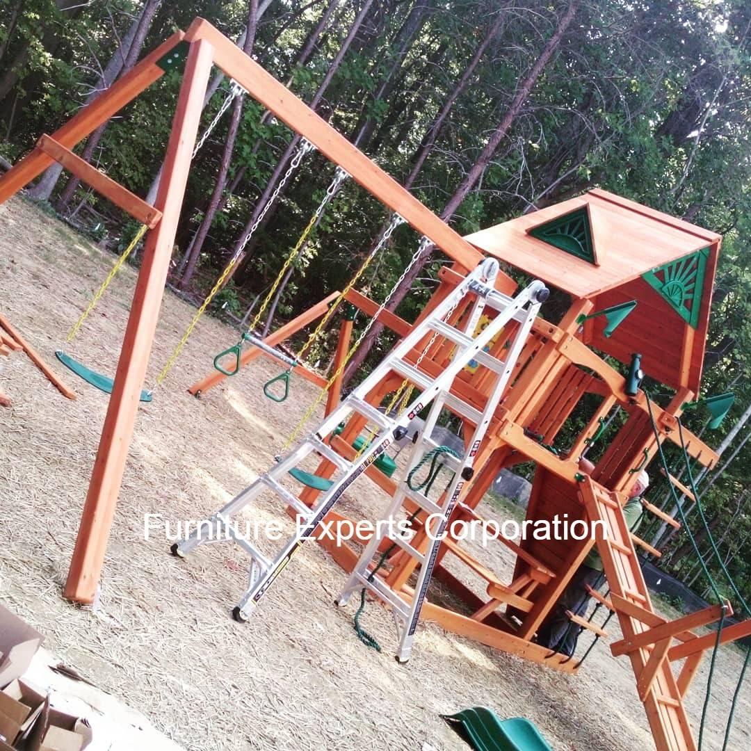 swing set installation completed in stone ridge VA